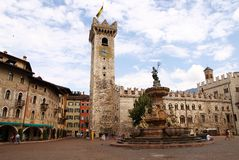 Piazza Duomo with the Torre Civica, Trento, Italy Royalty Free Stock Photo