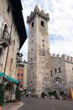 Piazza Duomo with the Torre Civica, Trento, Italy Stock Images