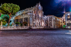 Piazza Duomo z katedrą Santa Agatha w Catania w Sicily, Włochy Zdjęcia Royalty Free