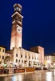 Torre dei Lamberti, Verona Obraz Stock