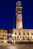 Piazza Erbe and Torre dei Lamberti in center of Verona Royalty Free Stock Photos