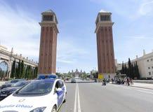 Piazza Espana, Barcelona Lizenzfreies Stockfoto