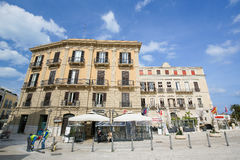 Piazza Ferrarese in the center of Bari, Italy Royalty Free Stock Photography