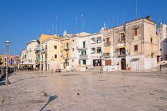 Piazza Ferrarese in het centrum van Bari royalty-vrije stock foto's