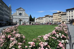 The piazza in Florence. Stock Images