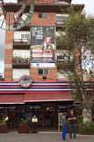 Piazza Foch im La-Mariscal touristischen Bezirk in Quito, Ecuador Stockbilder