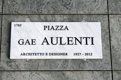 Piazza gae aulenti in Milan Stock Photos