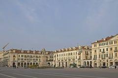 Piazza Galimberti i Cuneo Arkivbild