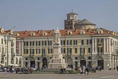Piazza Galimberti w Cuneo obrazy royalty free