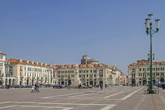 Piazza Galimberti w Cuneo obraz royalty free