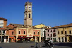 Piazza Garibaldi. Palazzo della Torre.  Forlimpopoli, Emilia Romagna, Italy Royalty Free Stock Photos