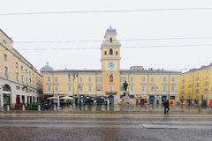 Piazza Garibaldi, Parma Fotografia Stock