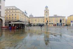 Piazza Garibaldi, Parma Obraz Royalty Free