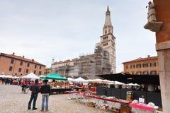 Piazza Garibaldi Parma i Parma, Italien Fotografering för Bildbyråer