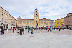 Piazza Garibaldi in Parma, Italy Royalty Free Stock Image