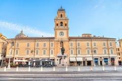 Piazza Garibaldi Parma w Parma, Włochy Zdjęcia Royalty Free