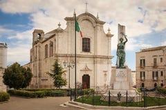 Piazza Giovanni Bovio. Ruvo di Puglia. Apulia. Italy. Piazza Giovanni Bovio, church of Saint Domenico. Ruvo di Puglia. Apulia. Italy royalty free stock image