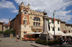 Piazza Giuseppe Giusti, Montecatini Alto, Italy Royalty Free Stock Photo