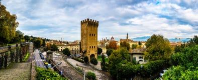 Piazza Giuseppe Poggi a Firenze, Italia Fotografia Stock