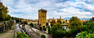 Piazza Giuseppe Poggi w Florencja, Włochy Zdjęcie Stock