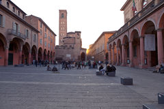 Piazza Giuseppe Verdi in Bologna Stock Images