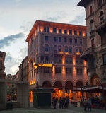 Piazza Goldoni, Trieste Immagine Stock