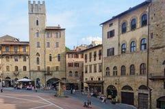 Piazza Grande - Arezzo Stock Photos