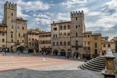 Piazza Grande, Arezzo, Toscânia, Itália imagens de stock royalty free