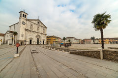 Piazza Grande and Cathedral Dogale, fortress-town Palmanova, Italy Stock Photos