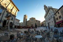 Piazza Grande em Montepulciano Imagens de Stock Royalty Free
