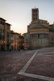 Piazza Grande la place principale de la ville toscane d'Arezzo, Italie Photographie stock