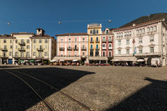 Piazza Grande in Locarno Royalty Free Stock Photo