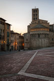 Piazza Grande the main square of tuscan Arezzo city, Italy Stock Photography