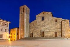 Piazza Grande, Montepulciano, Toscanië, Italië Royalty-vrije Stock Fotografie