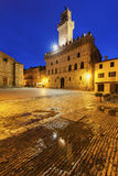 Piazza Grande in Montepulciano Stock Images