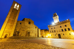 Piazza Grande in Montepulciano Stock Photo