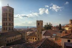 Piazza Grande o quadrado principal da cidade de tuscan Arezzo, Itália Imagem de Stock Royalty Free