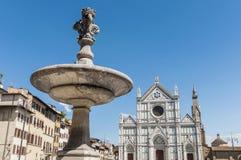 Piazza het vierkant van Santa Croce in Florence, Italië royalty-vrije stock afbeelding
