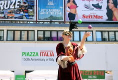 Piazza Italia Festival Royalty Free Stock Image
