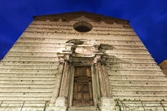 Piazza IV Novembre e cattedrale di San Lorenzo a Perugia Fotografia Stock Libera da Diritti