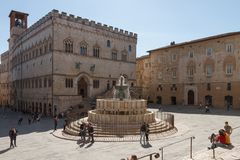 Piazza IV Novembre, Perugia, Italy Stock Photo