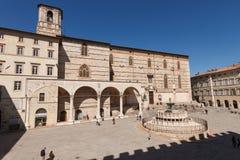 Piazza IV Novembre, Perugia, Italy Royalty Free Stock Photos