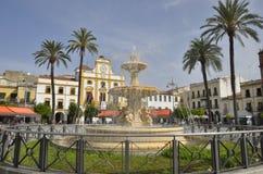 Piazza in Mérida Stockfoto