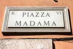 Piazza Madama, Rome Royalty Free Stock Photography