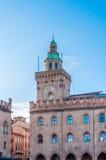 Piazza Maggiore a Bologna - Emilia Romagna - Italia Fotografia Stock Libera da Diritti