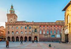 Piazza Maggiore a Bologna - Emilia Romagna - Italia Immagini Stock