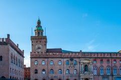 Piazza Maggiore a Bologna - Emilia Romagna - Italia Fotografie Stock Libere da Diritti