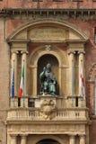 Piazza Maggiore, Bologna, Italië Stock Foto's