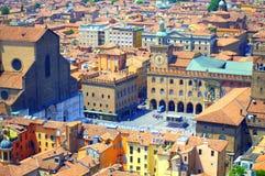 Piazza Maggiore Bologna Italië royalty-vrije stock fotografie