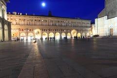 Piazza Maggiore in Bologna Stock Images